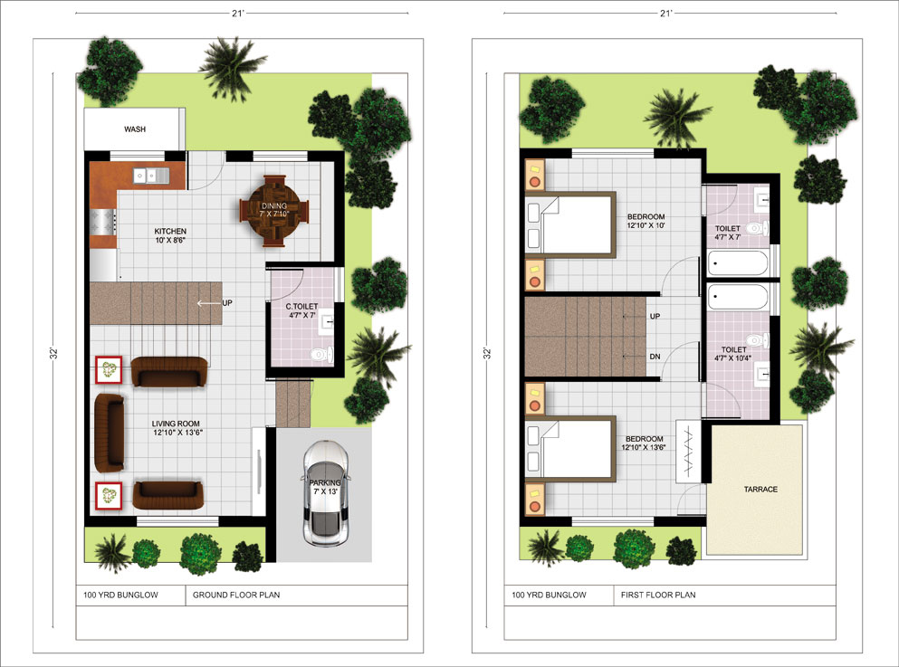 Your home gotiz infratech ltd for Twin bungalow plans