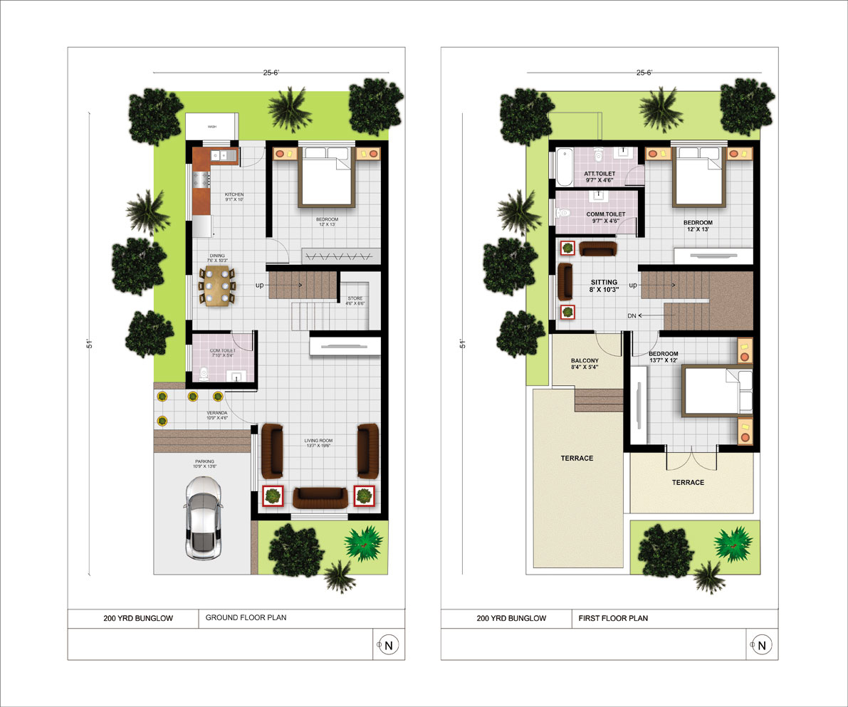 Your home gotiz infratech ltd for 300 yards house plan
